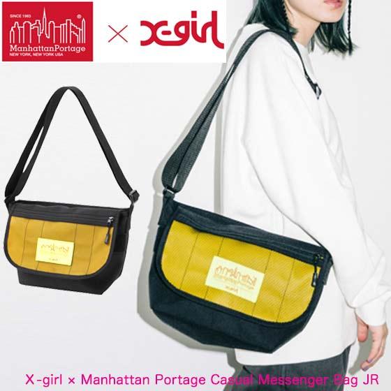 X-girl エックスガール マンハッタン ポーテージ ショルダーバッグ 【X-girl × Manhattan Portage Casual Messenger Bag JR】レディース バッグ 105201053007