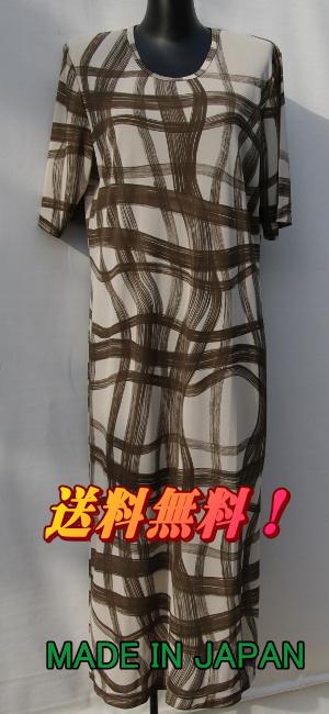 鎌倉トムお勧め【送料無料】丸首かぶりのファンシーな半袖ネグリジェ