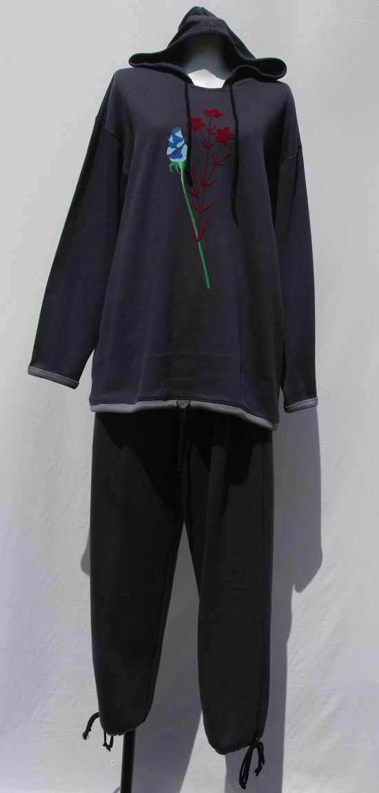 【KENZO】(ケンゾー)フード付き綿100%かぶり長袖パジャマ部屋着に最適【40%off】