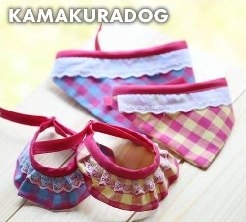 ハンドメイド犬猫用 キャンディーバンダナ &スカーフ