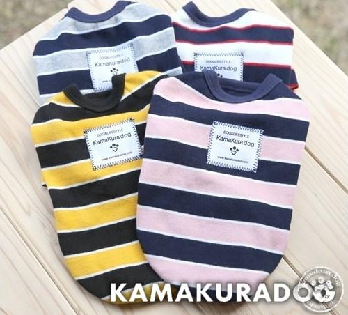 販売実績No.1 人気の定番 犬の服 バリエーション豊富なボーダー柄 スプリットシャツ