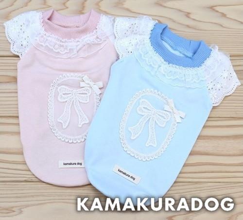 商品 犬の服 小型犬の服 お買得 レースとリボンでふんわりかわいい レーシーリボンシャツ