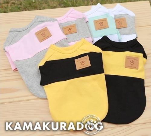 犬の服 ◆セール特価品◆ 激安通販 カラーバリエーション豊富で色違いコーデも楽しめる 鎌倉DOG ワンボーダーTシャツ ドッグウェア