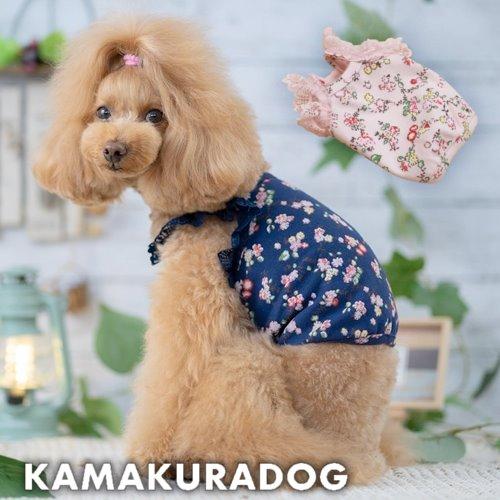 メール便可 犬 ☆正規品新品未使用品 服 伸縮性があるさらりとした生地 小花柄ショート丈キャミ 公式ストア 犬の服