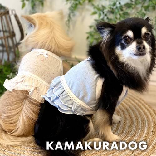 メール便可 犬 服 薄手で涼し気なキャミソール 犬の服 返品送料無料 セール品 ミックスカラーのショート丈キャミ