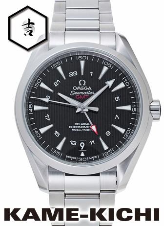 オメガ シーマスター アクアテラ GMT Ref.231.10.43.22.01.001 新品 ブラック (OMEGA Seamaster Aqua GMT)