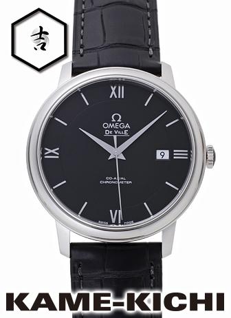 オメガ デ・ヴィル プレステージ コーアクシャル Ref.424.13.40.20.01.001 新品 ブラック (OMEGA De Ville Prestige Co-Axial)