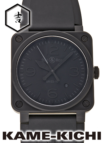 ベル&ロス BR03-92 ファントム Ref.BR03-92 新品 ブラック (Bell&Ross BR03-92 Phantom)