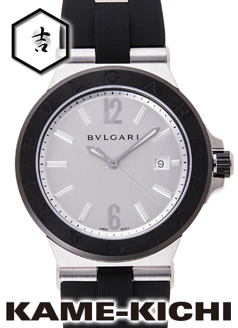 ブルガリ ディアゴノ セラミック Ref.DG42C6SCVD 新品 シルバー (BVLGARI Diagono Ceramic)