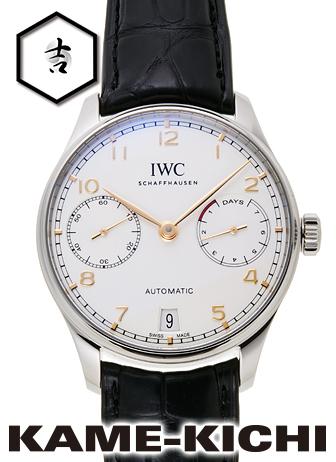 IWC ポルトギーゼ 7デイズパワーリザーブ Ref.IW500704 新品 シルバー (IWC Portuguese 7Day's Power Reserve)