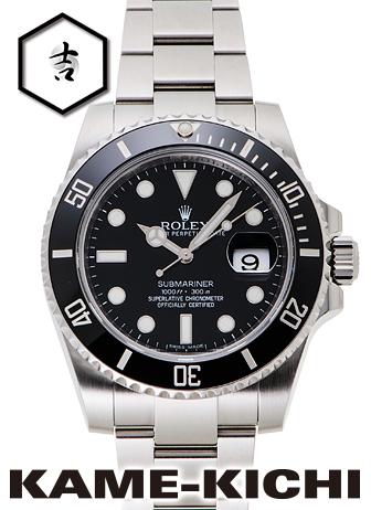 【中古】ロレックス 3年保証 サブマリーナ デイト Ref.116610LN ブラック (ROLEX Submariner Date)