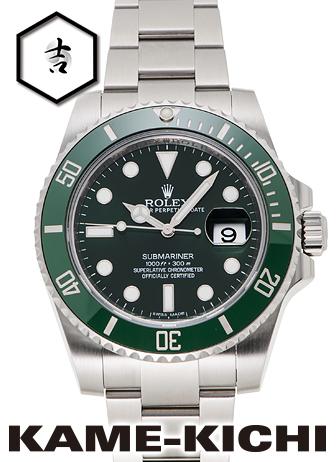 【中古】ロレックス 3年保証 サブマリーナ デイト Ref.116610LV グリーン (ROLEX Submariner Date)