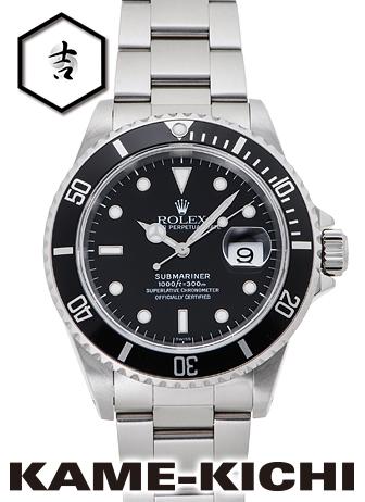 【中古】ロレックス 3年保証 サブマリーナ デイト Ref.16610 ブラック (ROLEX Submariner Date)