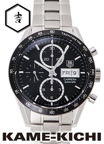 【中古】タグ・ホイヤー カレラ クロノグラフ キャリバー16 Ref.CV201AG.BA0725 ブラック (TAG HEUER Carrera Chronograph Caribre16)