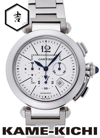 【中古】カルティエ パシャクロノ Ref.W31085M7 ホワイト (CARTIER Pasha Chronograph)