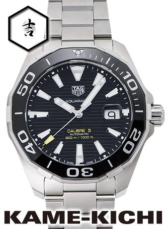 タグ・ホイヤー アクアレーサー キャリバー5 Ref.WAY201A.BA0927 新品 ブラック (TAG HEUER Aquaracer Calibre5)