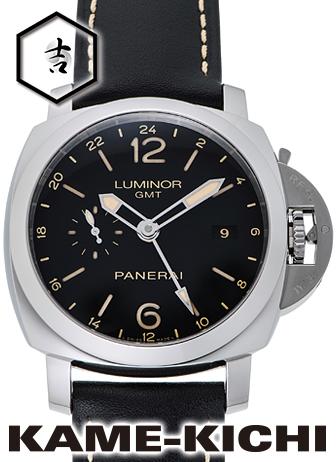 【中古】パネライ ルミノール1950 3デイズGMT アッチャイオ Ref.PAM00531 ブラック (PANERAI Luminor1950 3Days GMT Accaio)