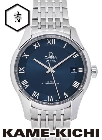 オメガ デ・ヴィル アワービジョン マスタークロノメーター Ref.433.10.41.21.03.001 新品 ブルー (OMEGA De Ville Hour Vision Master Chronometer)