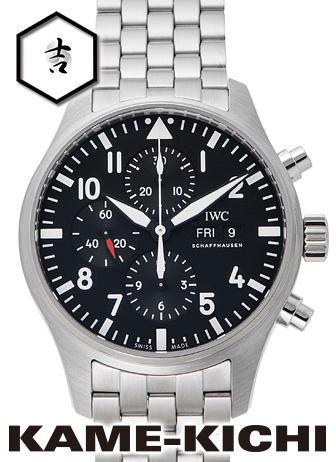 """IWC パイロットウォッチ クロノグラフ Ref.IW377710 新品 ブラック (IWC Pilot""""s Watch Chronograph)【】"""