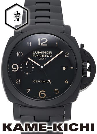 【中古】パネライ トゥットネロ ルミノール1950 3デイズGMT セラミカ Ref.PAM00438 ブラック (PANERAI Tuttonero Luminor1950 3Days GMT CERAMICA)