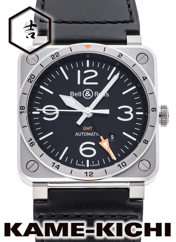 ベル&ロス BR03-93 GMT Ref.BR03-93-GMT-ST/SCA 新品 ブラック (Bell&Ross BR03-93 GMT)