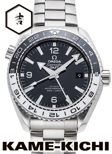 オメガ シーマスター プラネットオーシャン コーアクシャル マスタークロノメーターGMT Ref.215.30.44.22.01.001 新品 ブラック (OMEGA Seamaster Planet-ocean Co-Axial Master Chronometer GMT)【】