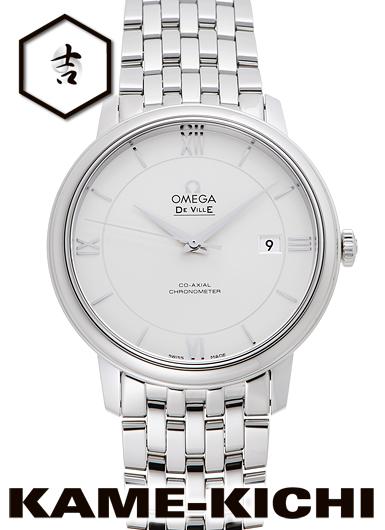 オメガ デ・ヴィル プレステージ コーアクシャル Ref.424.10.40.20.02.003 新品 シルバー (OMEGA De Ville Prestige Co-Axial)