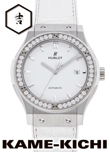 ウブロ クラシック フュージョン ホワイトダイヤモンド Ref.542.NE.2010.LR.1204 新品 ホワイト (HUBLOT Classic Fusion)