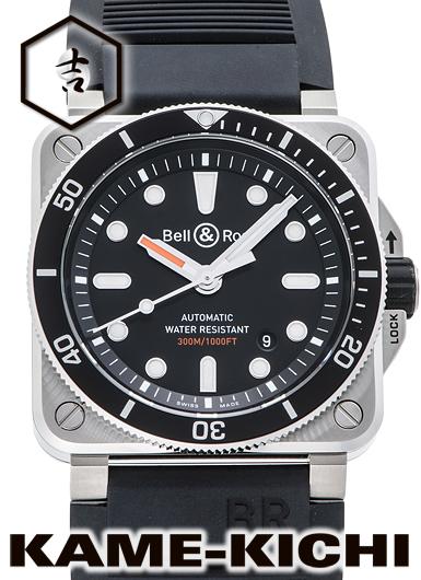 ベル&ロス BR03-92 ダイバー Ref.BR03-92-D-BL-ST/SRB 新品 ブラック (Bell&Ross BR03-92 Diver)
