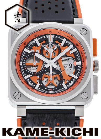 ベル&ロス BR03-94 エアロGT オレンジ Ref.BR03-94-SC-ORA/SCA 新品 オレンジ (Bell&Ross BR03-94 Aero-GT Orange)
