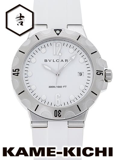 ブルガリ ディアゴノプロフェッショナル スクーバ Ref.DP41WSVSD 新品 ホワイト (BVLGARI Diagono Professional Scuba)