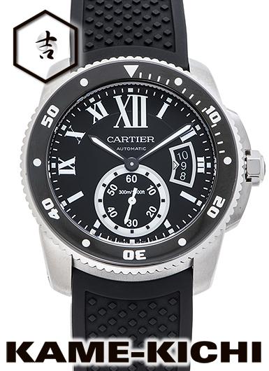 【中古】カルティエ カリブル ドゥ カルティエ ダイバー Ref.W7100056 ブラック (CARTIER Calibre de Cartier Diver)