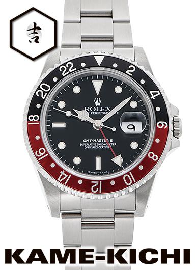 【中古】ロレックス 3年保証 GMTマスターII Ref.16710 ブラック (ROLEX GMT MasterII)