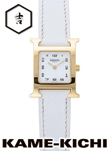 エルメス Hウォッチ Ref.HH1.201.131/UBC 新品 ホワイト (HERMES H Watch)