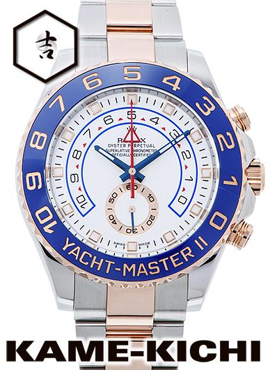 【中古】ロレックス 3年保証 ヨットマスターII Ref.116681 ホワイト (ROLEX Yacht MasterII)