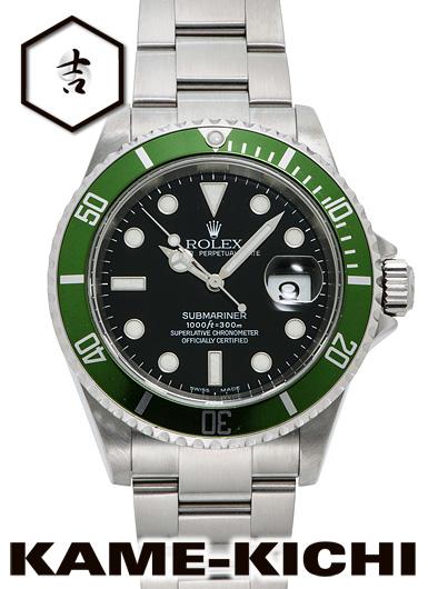 【中古】ロレックス 3年保証 サブマリーナ デイト Ref.16610LV ブラック (ROLEX Submariner Date)