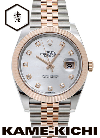 【中古】ロレックス 3年保証 デイトジャスト41 Ref.126331NG ホワイト (ROLEX Datejust41)