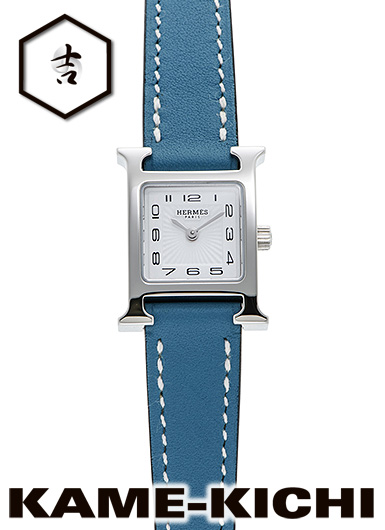 【中古】エルメス Hウォッチ ミニ Ref.HH1.110.131/WJE ホワイト (HERMES H Watch MInI)