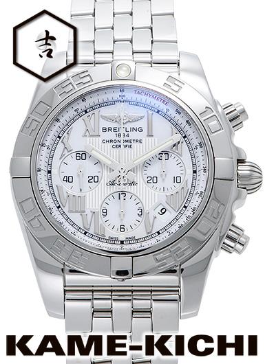 【最大3万円OFFクーポン!6/1~】【中古】ブライトリング クロノマット44 Ref.A011A90PA ホワイト (BREITLING Chronomat44)