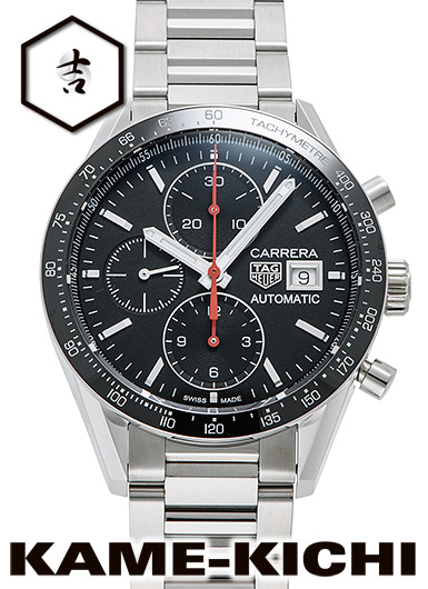 【最大3万円OFFクーポン!1/1~】タグ・ホイヤー カレラ クロノグラフ キャリバー16 Ref.CV201AK.BA0715 新品 ブラック (TAG HEUER Carrera Chronograph Caribre16)