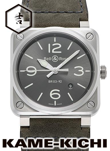 ベル&ロス BR03-92 グレー ラム Ref.BR0392-GC3-ST/SCA 新品 グレー (BellRoss BR03-92 Grey Lum)
