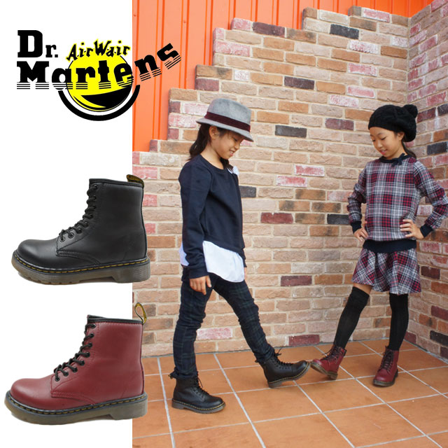 Dr. Martens Dr.Martens Delaney boys girls kids shoes kids junior boots 15382001.15382601 DELANEY lace up boots casual shoes 8 hole boots 2 colors