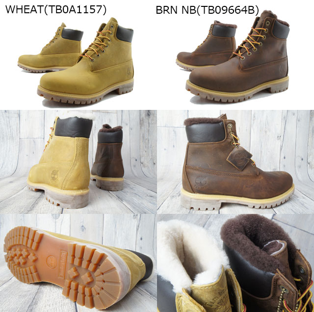 cd931e4c127 Short fur lined LT mens boots TB09664B / TB0A1157 6 IN FUR LINED LT  Timberland Timberland 6 inch-length casual fur winter two-color Brown wheat  evid