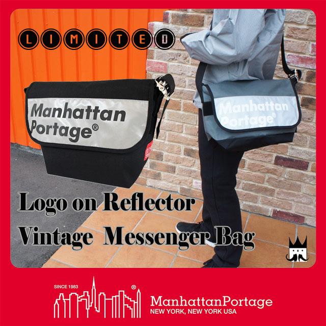【P最大42倍】マンハッタンポーテージ 【送料無料】 メンズ レディース バッグ MP1606V-JR-REF-L ロゴオン リフレクター ビンテージ メッセンジャーバッグ 反射 ナイロン ショルダー 斜め掛け A4 Manhattan Portage evid ab-c