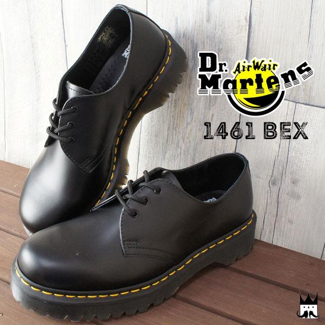 【送料無料】Dr.Martens ドクターマーチンメンズ レディース 21084001 CORE 1461 BEX 3 EYELET SHOE オックスフォード マニッシュシューズ レースアップ おじ靴 カジュアルシューズ evid