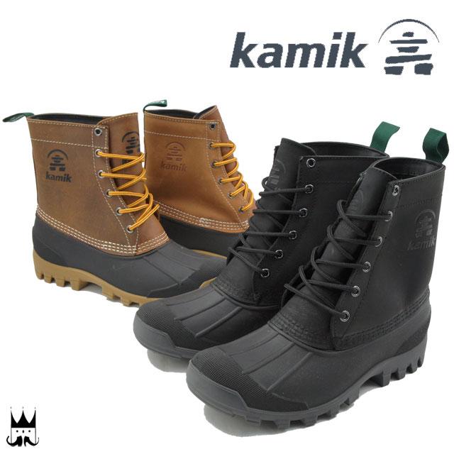 カミック Kamik ユーコン6 メンズ ブーツ YUKON6 スノーブーツ レースアップブーツ ショートブーツ 編み上げブーツ 防寒 防水 ウォータープルーフ 雪 冬 雪寒地 雪国 1600431 evid