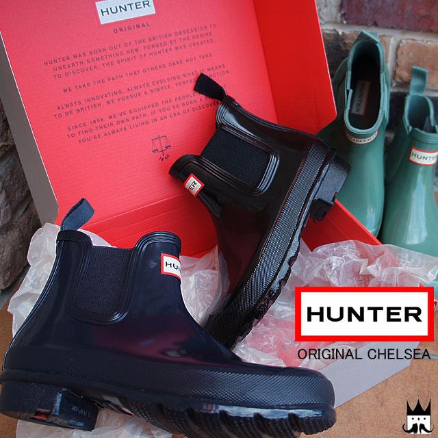 【送料無料】HUNTER ハンターレディース レインブーツ WFS1043RGL W オリジナル チェルシー RGL サイドゴア ショートブーツ ラバーブーツ 雨 レジャー 長靴 カジュアルシューズ ブラック ネイビー グリーン