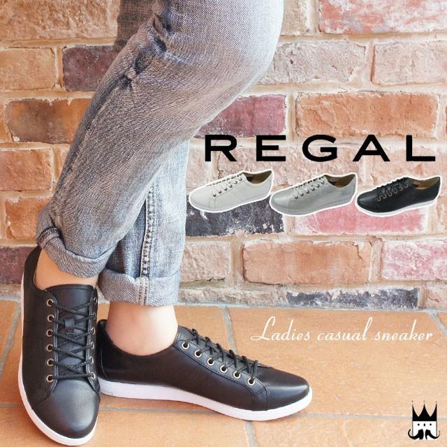 【送料無料】REGAL リーガル レディース スニーカー BE63 本革 レザー レースアップ レディーススニーカー 紐靴 カジュアル 白 黒 シルバー メタリック evid o-sg |4