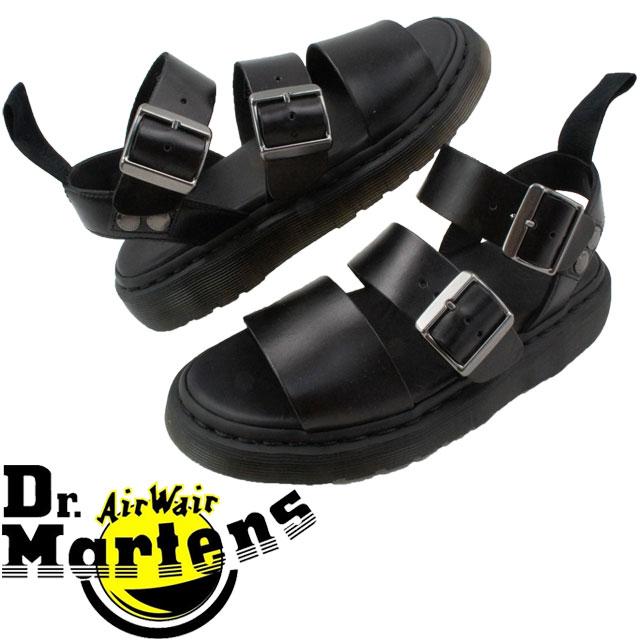 【送料無料】ドクターマーチン Dr.Martensレディース コンフォートサンダル グリフォン ブラック 疲れにくい 厚底 evid