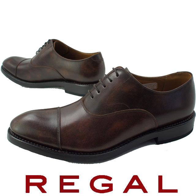【送料無料】REGAL リーガル メンズ ビジネスシューズ 01RR 革靴 紳士靴 ダークブラウン フォーマル ストレートチップ 日本製 メイドインジャパン evid o-sg